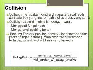 Collision 1 Collision merupakan kondisi dimana terdapat lebih