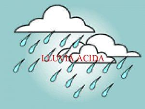 LLUVIA ACIDA HISTORIA La lluvia cida o sedimentacin