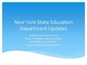 New York State Education Department Updates Spring Conference