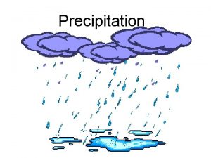 Precipitation What is precipitation Why it is any
