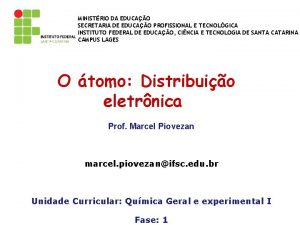 MINISTRIO DA EDUCAO SECRETARIA DE EDUCAO PROFISSIONAL E