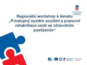 Regionln workshop k tmatu Prostupn systm sociln a