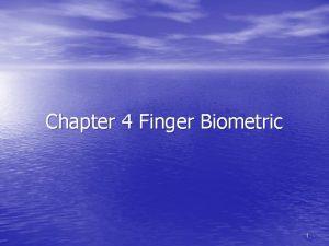 Chapter 4 Finger Biometric 1 Fingerprint Identification Among