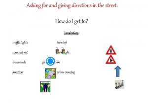 Asking for and giving directions in the street