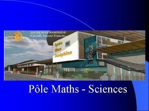 Ple Maths Sciences 2 CAP Programme de mathmatiques