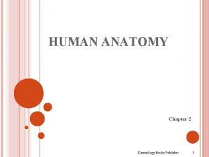 HUMAN ANATOMY Chapter 2 Kinesiology Books Publisher 1