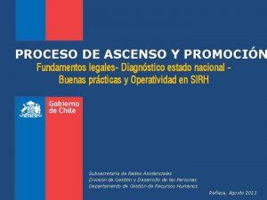 PROCESO DE ASCENSO Y PROMOCIN Fundamentos legales Diagnstico