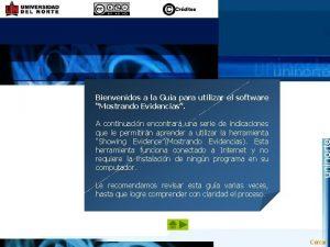 Bienvenidos a la Gua para utilizar el software