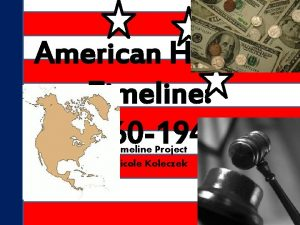 American History Timeline 1860 1940 Timeline Project Nicole