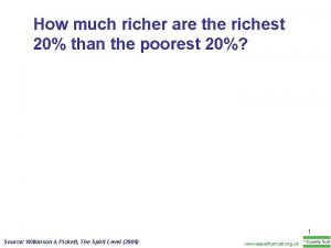 How much richer are the richest 20 than