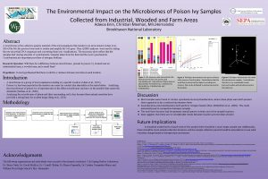 The Environmental Impact on the Microbiomes of Poison