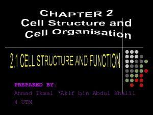 PREPARED BY Ahmad Ikmal Akif bin Abdul Khalil
