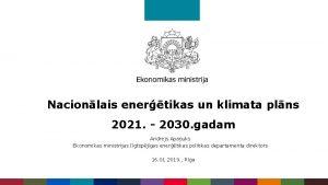 Nacionlais enertikas un klimata plns 2021 2030 gadam