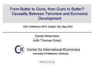 From Butter to Guns from Guns to Butter