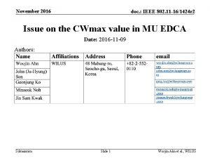 November 2016 doc IEEE 802 11 161424 r