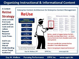 Organizing Instructional Informational Content A Content Re Use