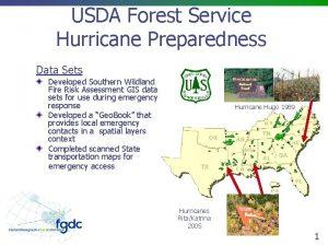 USDA Forest Service Hurricane Preparedness Data Sets Developed