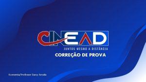 CORREO DE PROVA EconomiaProfessor Darcy Arruda CORREO DE