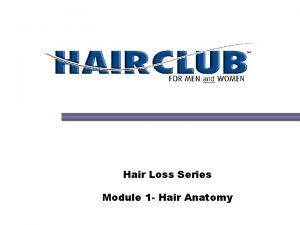 Hair Loss Series Module 1 Hair Anatomy Hair