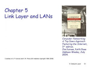 Chapter 5 Link Layer and LANs Computer Networking
