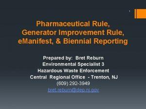 1 Pharmaceutical Rule Generator Improvement Rule e Manifest
