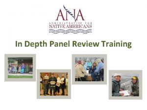 In Depth Panel Review Training Activity Mock Panel