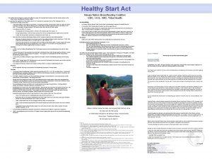 Healthy Start Act Navajo Nation Breastfeeding Coalition CDC