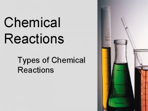 Chemical Reactions Types of Chemical Reactions Essential Questions