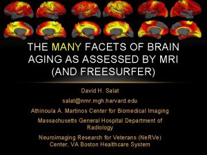 THE MANY FACETS OF BRAIN AGING AS ASSESSED