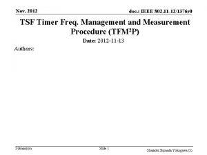 Nov 2012 doc IEEE 802 11 121376 r