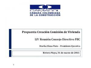 Propuesta Creacin Comisin de Vivienda LIV Reunin Consejo