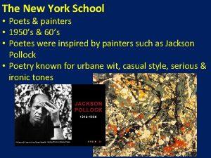The New York School Poets painters 1950s 60s