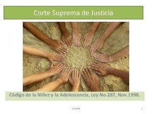 Corte Suprema de Justicia Cdigo de la Niez