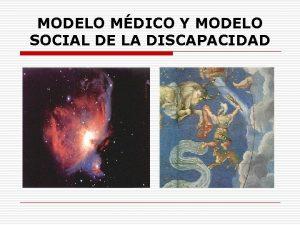 MODELO MDICO Y MODELO SOCIAL DE LA DISCAPACIDAD