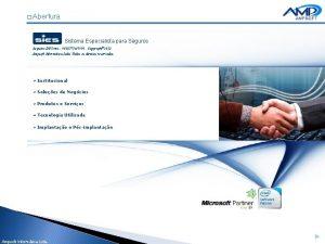 Abertura Sistema Especialista para Seguros Registro INPI nro