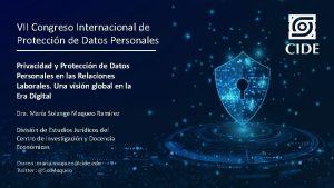 VII Congreso Internacional de Proteccin de Datos Personales