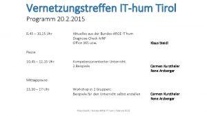 Vernetzungstreffen IThum Tirol Programm 20 2 2015 8