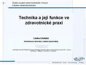 esk vysok uen technick v Praze Fakulta elektrotechnick