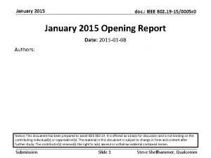 January 2015 doc IEEE 802 19 150005 r