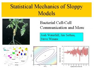 Statistical Mechanics of Sloppy Models Bacterial CellCell Communication