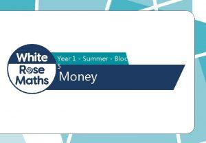 Year 1 Summer Block 5 Money Organise the