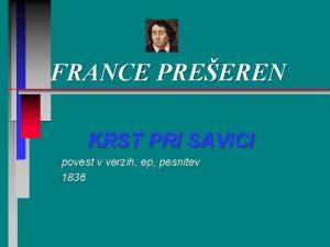 FRANCE PREEREN KRST PRI SAVICI povest 1836 v