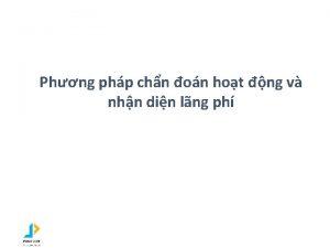 Phng php chn on hot ng v nhn