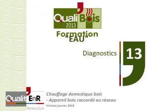 EAU Diagnostics Chauffage domestique bois Appareil bois raccord