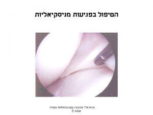 Knee Arthroscopy course Tel Aviv E Adar 1885