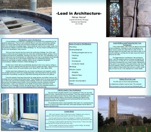 LEAD ROOF WINDOW CAME Lead in Architecture Nehaa