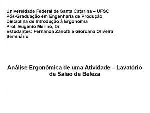 Universidade Federal de Santa Catarina UFSC PsGraduao em