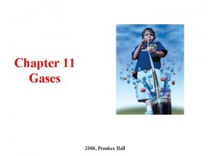 Chapter 11 Gases 2006 Prentice Hall CHAPTER OUTLINE