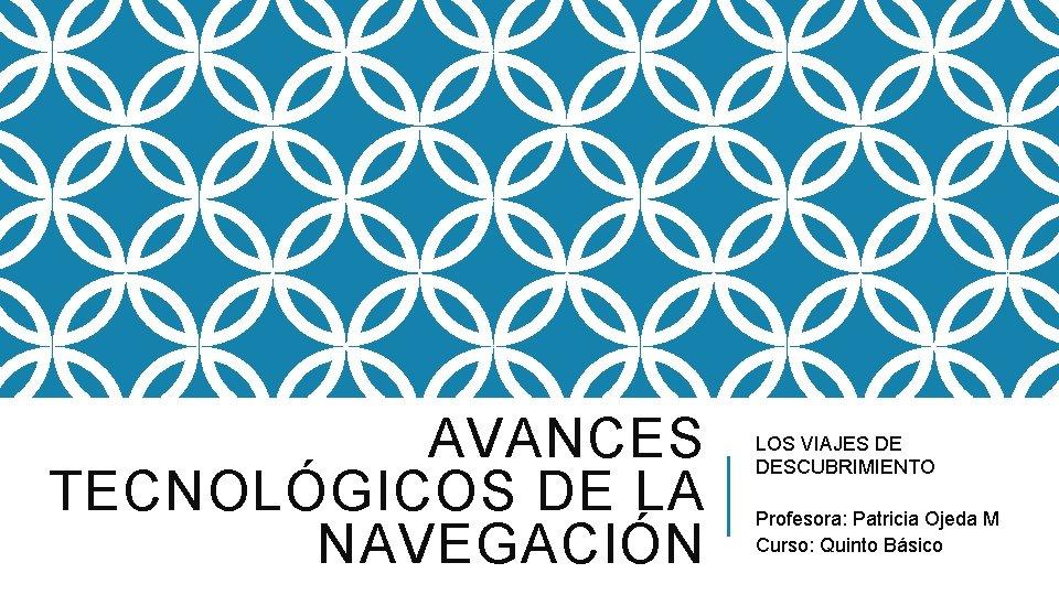 AVANCES TECNOLGICOS DE LA NAVEGACIN LOS VIAJES DE