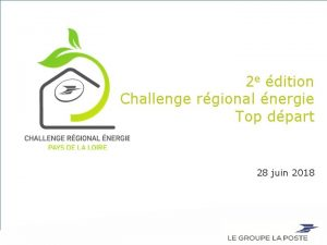 2 e dition Challenge rgional nergie Top dpart